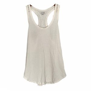 American Eagle beaded scoop tank top white small